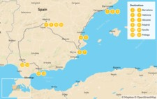Map thumbnail of Family Trip to Spain: Barcelona, Valencia, Madrid, & Costa del Sol - 16 Days