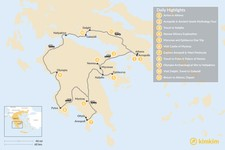 Map thumbnail of Mainland Greece Road Trip - 11 Days