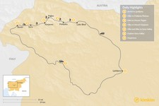 Map thumbnail of Hiking & Biking in Slovenia's Julian Alps - 7 Days