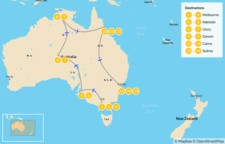 Map thumbnail of Ultimate Australia - 16 Days