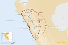 Map thumbnail of How to Get from Lima to Chachapoyas