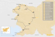 Map thumbnail of Active Adventure: From the Alps to the Adriatic - 11 Days