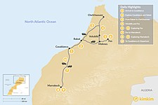 Map thumbnail of Moroccan Cities Grand Tour - 10 Days
