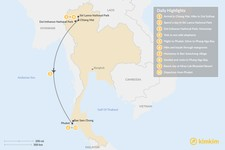 Map thumbnail of Thailand Family Adventure - 10 Days