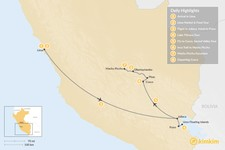 Map thumbnail of Lake Titicaca & Short Inca Trail - 8 Days