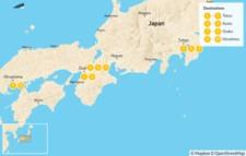 Map thumbnail of Japan's Big Four: Tokyo, Kyoto, Osaka & Hiroshima - 10 Days