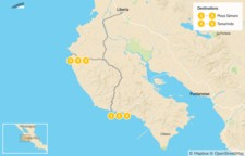 Map thumbnail of Costa Rica Pacific Coast Road Trip - 7 Days