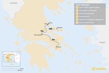 Map thumbnail of Central Greece & Skopelos Exploration - 6 Days