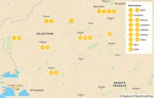 Map thumbnail of Palaces, Villages, and Deserts of Rajasthan - 17 Days