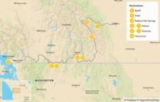 Map thumbnail of Calgary to Vancouver Road Trip: Banff, Radium, Nelson, & Osoyoos - 9 Days
