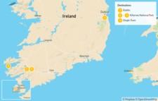 Map thumbnail of Ireland Self-Driving Tour: Dublin, Killarney & Dingle - 5 Days