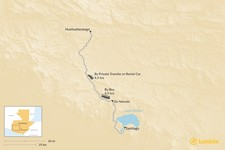 Map thumbnail of How to Get from Lake Atitlan to Huehuetenango