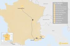 Map thumbnail of French Panorama: Paris, Marseille & Nice - 10 Days