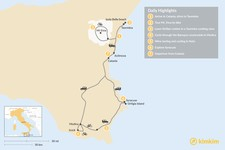 Map thumbnail of Sicilian Bike Tour - 7 Days