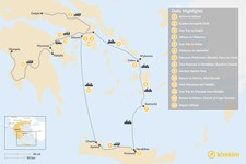 Map thumbnail of Historic Athens, Mainland Greece, Cyclades and Crete - 14 Days