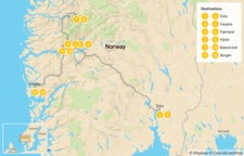 Map thumbnail of Western Norway Fjord Road Trip - 13 Days