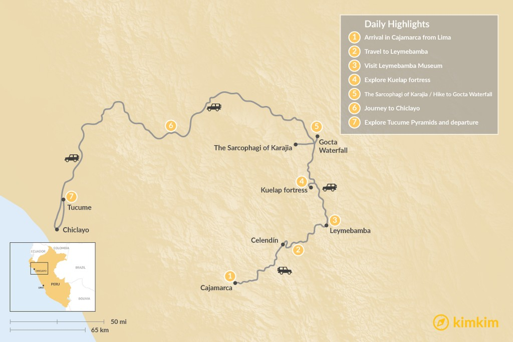 Map of Chachapoyas: Peru's Best Kept Secret - 9 Days