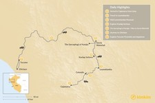 Map thumbnail of Chachapoyas: Peru's Best Kept Secret - 9 Days