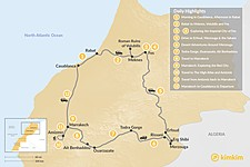 Map thumbnail of Imperial Cities, Moroccan Deserts & Hiking the Atlas Mountains - 12 Days