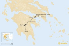 Map thumbnail of How to Get from Athens to Sparta