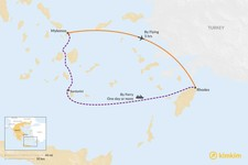 Map thumbnail of How to Get from Mykonos to Rhodes