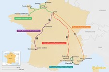 Map thumbnail of 7 Days in France - 5 Unique Itinerary Ideas