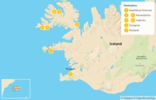 Map thumbnail of Best of the West: Snaefellsnes Peninsula and Westfjords - 8 Days
