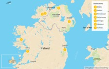 Map thumbnail of North Ireland Road Trip: Belfast, Donegal & Galway - 8 Days