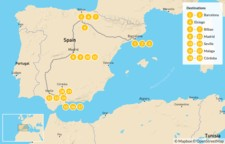 Map thumbnail of Ultimate Food, Culture & Wine Tour of Spain - 20 days