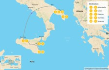 Map thumbnail of Puglia & Sicily Highlights - 12 Days