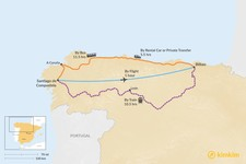 Map thumbnail of How to Get from Santiago de Compostela to Bilbao