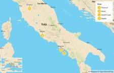 Map thumbnail of Florence, Cinque Terre, Rome, & Amalfi Coast - 9 Days