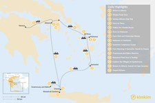 Map thumbnail of Laid-Back Athens, Tinos, Mykonos, Santorini, and Crete - 15 Days