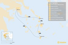 Map thumbnail of Relaxed Athens, Santorini, Naxos & Mykonos - 9 Days