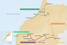 Map thumbnail of 5 Days in Morocco - 4 Unique Itineraries