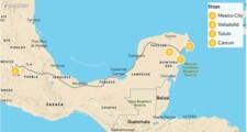 Map thumbnail of Mexico City & Riviera Maya - 10 Days