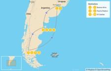 Map thumbnail of Argentine Wildlife & Glaciers Adventure - 11 Days