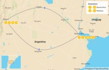 Map thumbnail of Buenos Aires & Mendoza - 10 Days