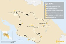 Map thumbnail of Costa Rica's Whitewater, Beaches & Volcanos - 7 Days