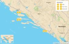 Map thumbnail of Croatia Luxury Tour: Split, Hvar, & Dubrovnik - 7 Days