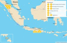 Map thumbnail of Sumatra & Java : Orangutans, Volcanoes, & Indonesian Culture - 14 Days