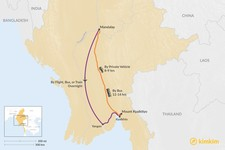 Map thumbnail of How to Get from Mandalay to Mount Kyaiktiyo