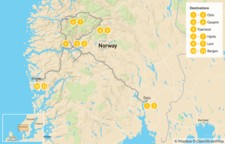 Map thumbnail of Western Norway Summer Road Trip - 12 Days