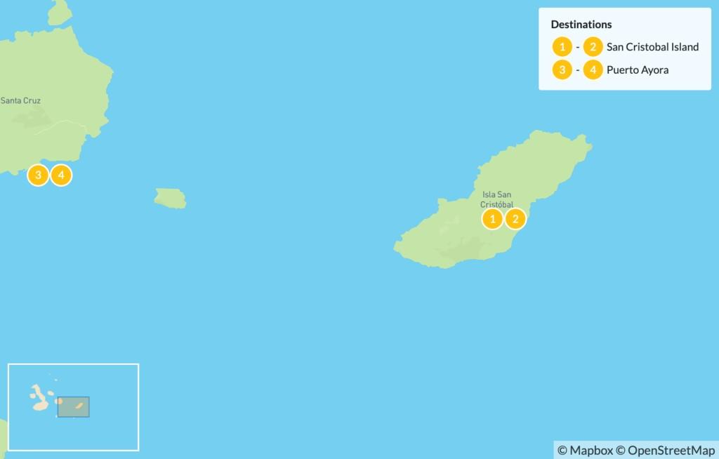 Map of Galapagos Island Hopping: San Cristobal & Santa Cruz - 5 Days