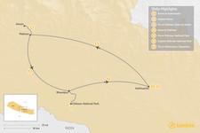Map thumbnail of Explore the Golden Triangle: Kathmandu, Pokhara, & Chitwan - 7 Days