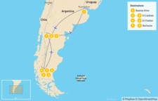 Map thumbnail of Hiking in Argentine Patagonia - 10 Days