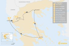 Map thumbnail of Active Northern Greece & Corfu - 10 Days