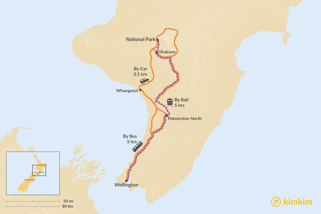 Wellington to Tongariro National Park - Best Routes & Travel ...