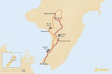 Map thumbnail of How to Get from Wellington to Tongariro National Park