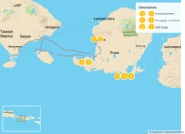 Map thumbnail of Off-The-Beaten-Path Lombok & Secret Gili Islands - 8 Days